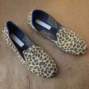Rothy's Spotted Leopard Round Toe Flats